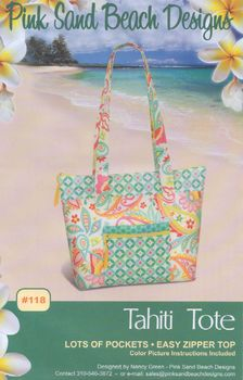 Pink Sand Beach Designs Tahiti Tote Bag Pattern