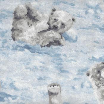 Polar Frost Flannel Fabric by Northcott F2123341