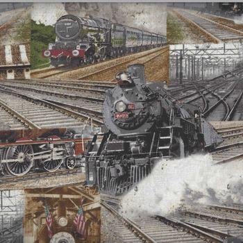 Railway Express for Benartex Fabrics Railway Collage 8507 Colour 99