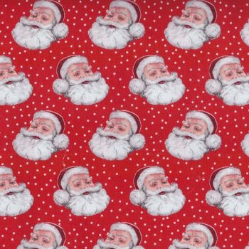 Retro Christmas Style Fabric by Makower D1252 colour r
