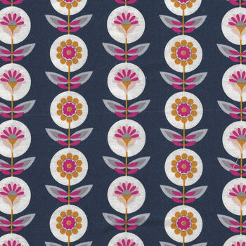 Riley Blake Designs Golden Aster By Gabrielle Neil C9842 Color Navy