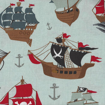 Riley Blake Designs Pirate Tales By Echo Park Paper Co C9680 Color Blue