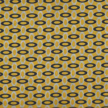 Rita By Stoff Fabrics Danish Design 4501 232 YellowBlack