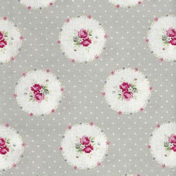 Ruru Bouquet By Quiltgate Fabrics RU2370 14B Grey