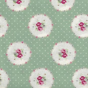 Ruru Bouquet By Quiltgate Fabrics RU2370 14D Green