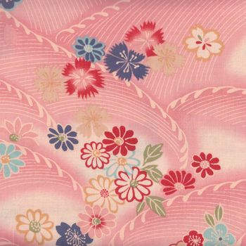 Sevenberry Japanese Cotton Fabric Waves