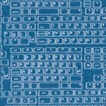 Sevenberry Keyboard Cotton Fabric 850055D33