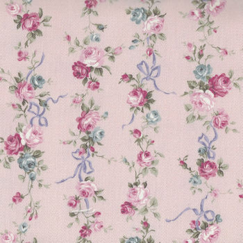 Sevenberry  Floral And Bow CottonLinen Pink 87504 Colour 2