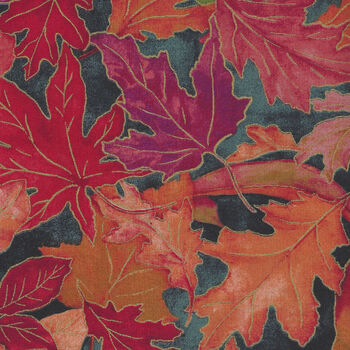 Shades Of Autumn by RJR Fabric RJ701SL2M Colourful Foliage Leaves