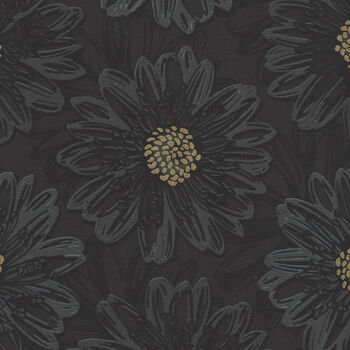 Shiny Objects Good As Gold By RJR Fabrics FF500ON5M CharcoalBlackGold