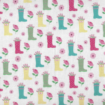 Singing In The Rain by Beverly McCullough for Riley Blake Designs C9361 Color White