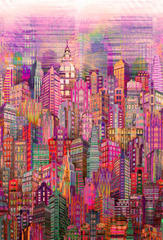 Skylines by Hoffman Digital Spectrum Print SN4234 Blush 391
