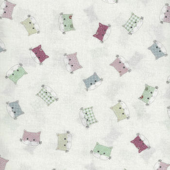 Stof Downtown Kitty Cat Faces Fabric 4500 240
