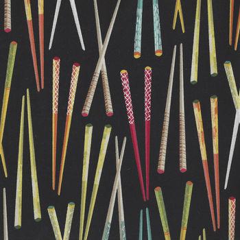 Sushi by Northcott Fabrics 22364 color 49 Chopsticks