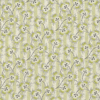 Textile Pantry by Junko Matsuda Japanese Fabric 1100193 Color C CreamGreen