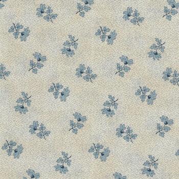 Textile Pantry by Junko Matsuda Japanese Fabric 110183 Color B CreamBlue