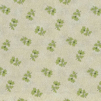 Textile Pantry by Junko Matsuda Japanese Fabric 110183 Color C CreamGreen