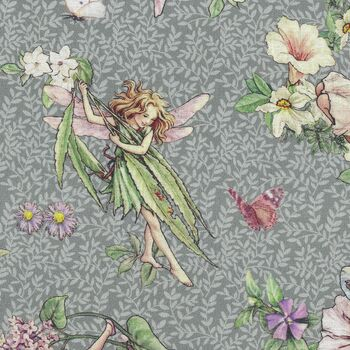 The Dancing Flower Fairies Frederick Warne and Co With Michael Miller DDC9272GrayD