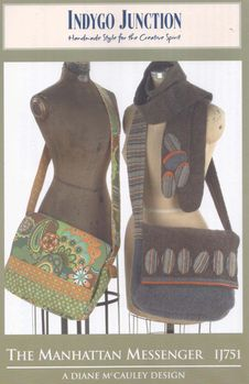 The Manhattan Messenger Bag Pattern from Indygo Junction