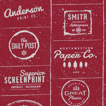 The Print Shop By Sweetwater For Moda Fabrics M574031 RedText