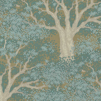 Tilda Woodland From Tone Finnanger Juniper Teal 100298