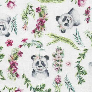 Tropical Zoo from Devonstone Fabric DV3193 White