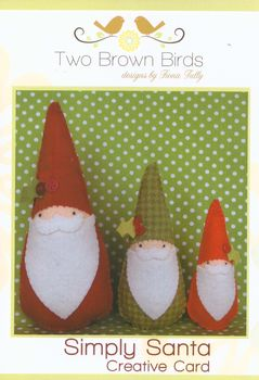 Two Brown Birds Felt Toy Simply Santas Creative Card