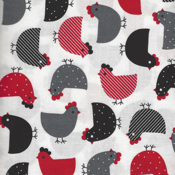 Urban Zoologie by Robert Kaufman AAK147203 Red  Chickens