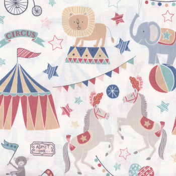 Vintage Circus by Lewis and Irene Fabrics DA141 col 1