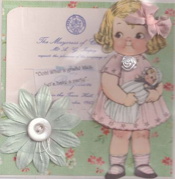 Vintage Decorated Blank Card