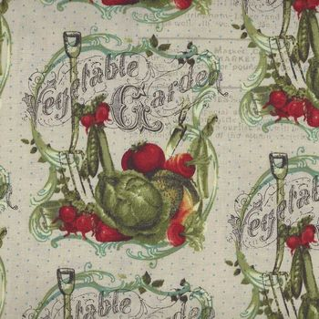 Vintage Seedpackets by Clothworks Y166257 Cream