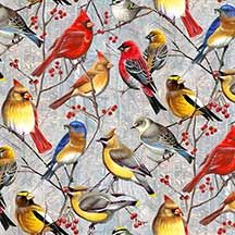 WINTER GATHERING COTTON FABRIC BY WILMINGTON