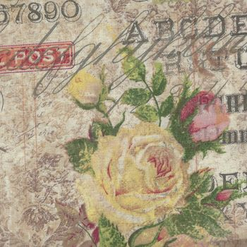 Wallflower Rose Parcel By Tim Holtz from Eclectic Elements PWTH0358Multi