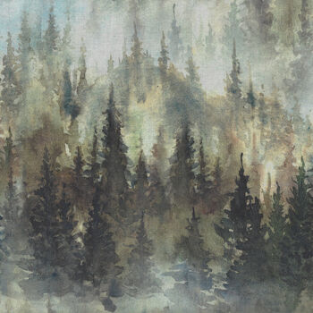 Whispering Woods by Hoffman Spectrum Digital Fabrics HS4845 044 Forest