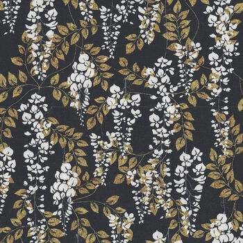 Wisteria Narumi Japanese by Blank Quilting BQ9937 099 Black