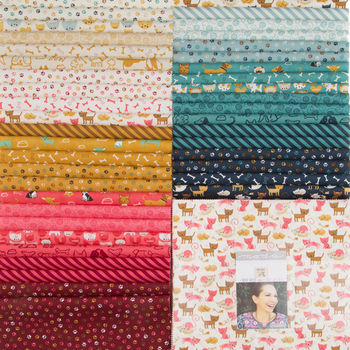 Woof Woof Meow Layer Cake Precut 42 10inch Squares by Stacy Hsu for Moda 20560LC
