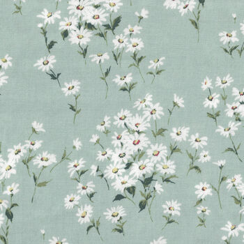 Yuwa Charmant Collection CC753063 Col 1 Duckegg Daisies
