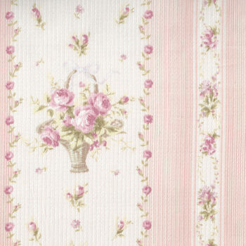 Yuwa Live Collection Made in Japan Cotton 066372A Floral Border Print