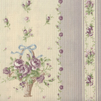 Yuwa Live Collection Made in Japan Cotton 066372B Floral Border Print