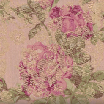 Yuwa Live Collection Made in Japan Jaquard Antique Roses 299384D Pink