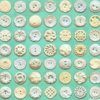 Flea Market Mix Buttons By Cathe Holden For MODA Fabrics MD7356 25 Green