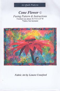 andquotNEWandquot Art Quilt Pattern Cone Flowerby Lenore Crawford
