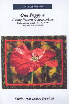 andquotNEWandquot Art Quilt Pattern One Poppy by Lenore Crawford