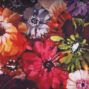 andquotNEWandquot Hoffman California Fabric Blooms Digital Print