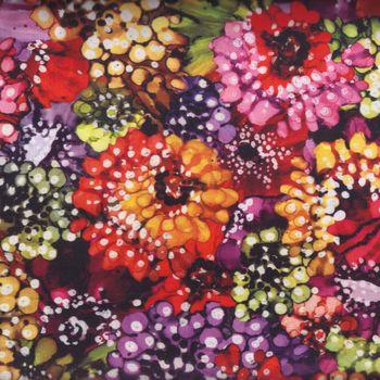 andquotNEWandquot Hoffman California Fabrics Digital Print Blooms M4205 color 562