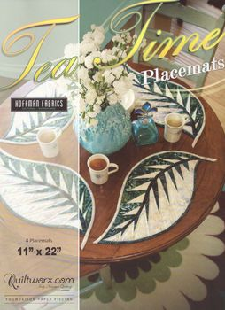 andquotNEWandquot Quiltworx Tea Time Placemats Foundation Pattern