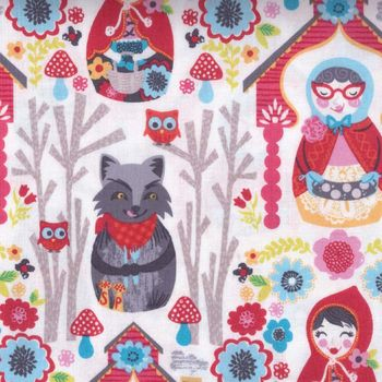 andquotNEWandquot Riding Hood Cotton Fabric by Josephine Kimberling for Blend Fabrics