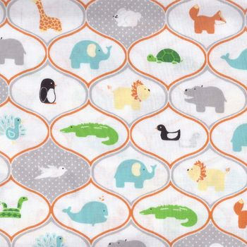 andquotNEWandquot Riley Blake Cotton Quilting Fabric Little Ark