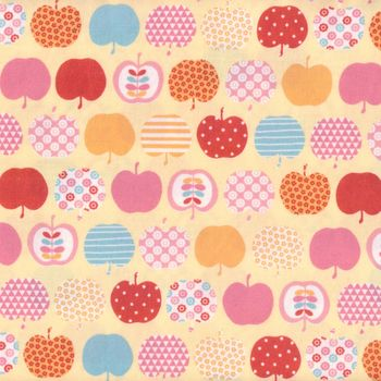 andquotNEWandquot Sevenberry Japanese Cotton Quilting Fabric andquotApplesandquot