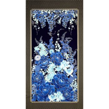 andquotNewandquot Imperial Garden Panel by Chong A Hwang for Timeless Treasures